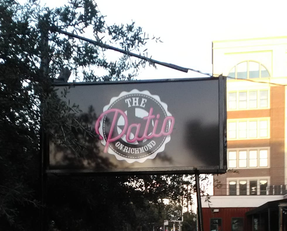 Lighted Restaurant Sign - The Patio on Richmond - Houston Sign