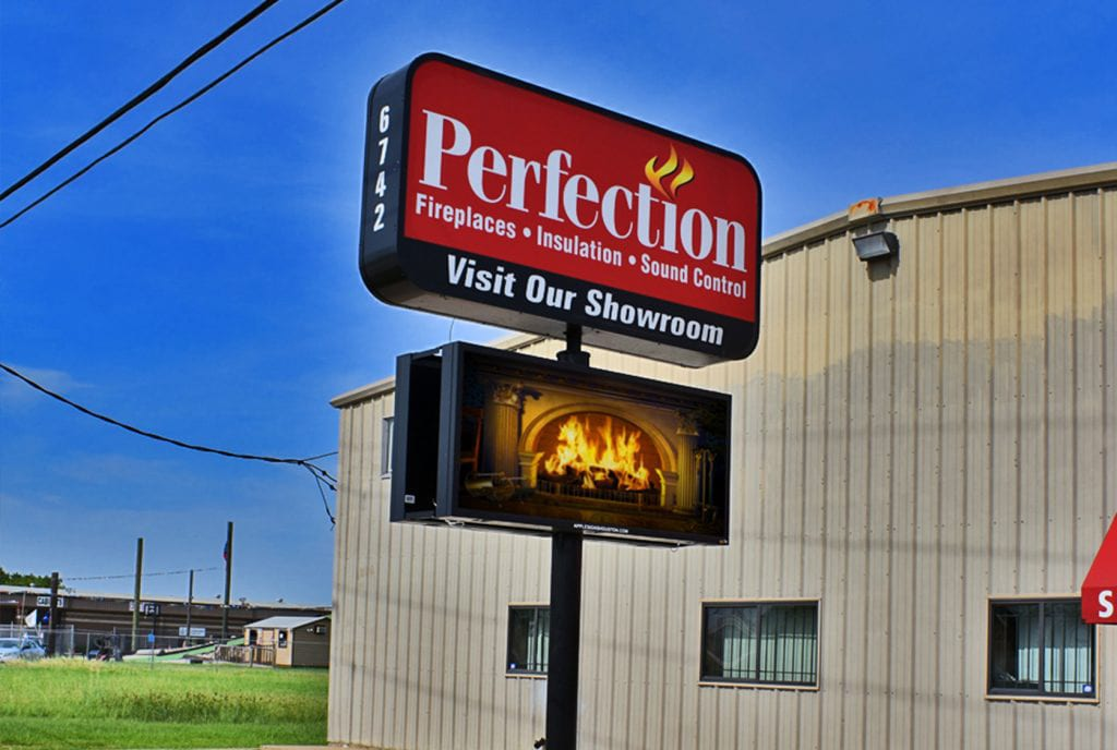 Houston Lighted Signs - Houston Sign Company - Apple Signs